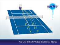 2 line drill with vertical oscillation - narrow