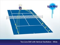 2 line drill with vertical oscillation - wide