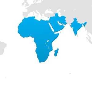 Africa, Middle East, & India