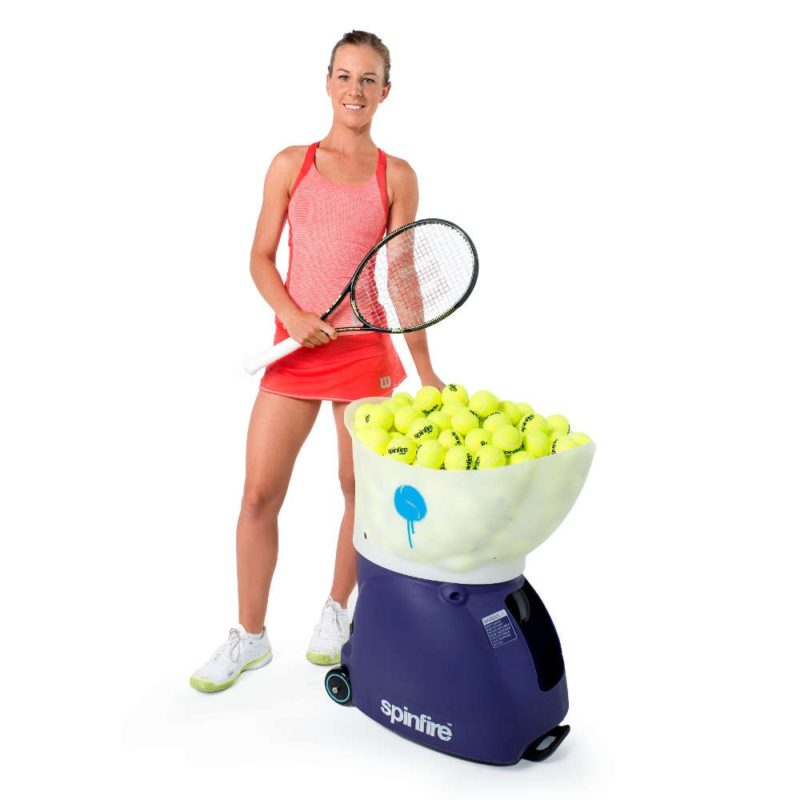 Spinfire Pro machine with WTA player Olivia Rogowska