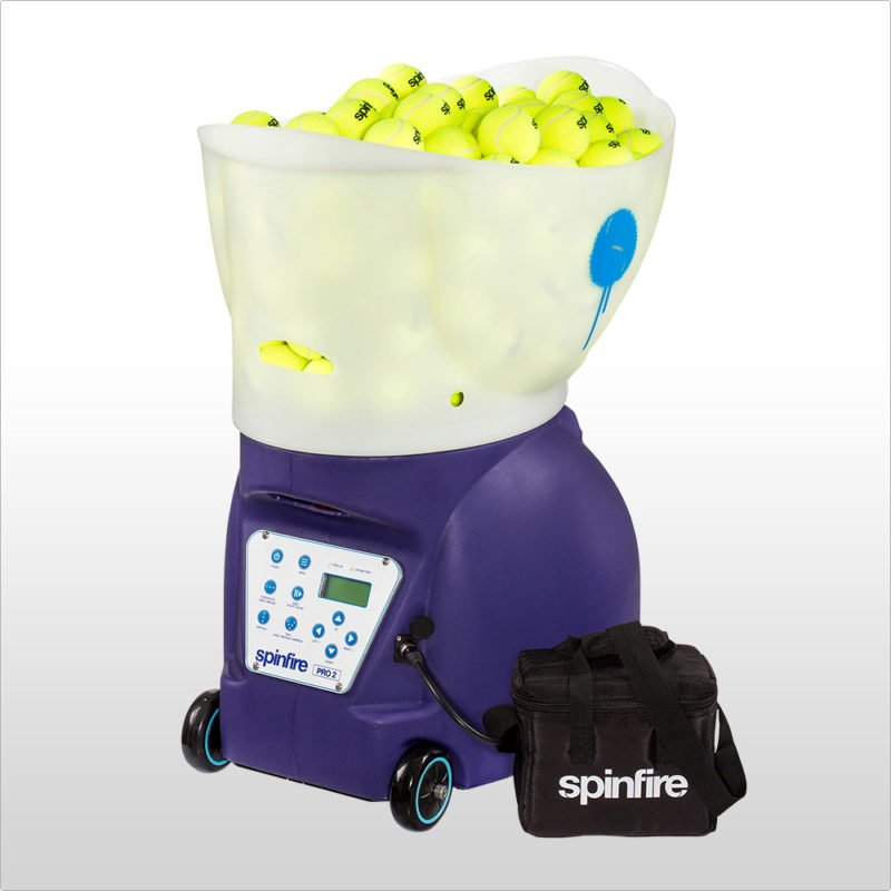Spinfire Pro Ball Machine - Running off an external battery pack